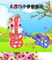 Wholesale frozen Children s multifunction cartoon animal electronic organ guitar nursery rhyme music toys Birthday Day gifts