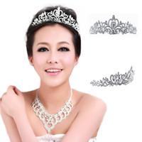 Wholesale S5Q Women s Plated Silver Crystal Crown Wedding Bridal Princess Headdress Tiara AAAEAF