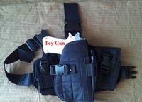 airsoft pistol tactics - Tactics Universal Adjustable Nylon Airsoft tactical combat hunting shooting thumb break deft drop Leg Pistol Holster Black