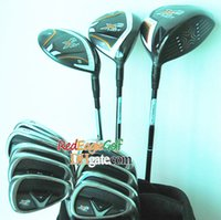 Wholesale New golf clubs set X2 HOT Complete Set of Clubs Golf driver fairways wood irons with x2 HOT Graphite shaft headcover golf club