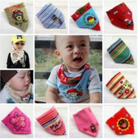 baby girl headscarf - Promotion Cute Baby Floral Printing Animals Cotton Headband Children Girl Flower Bandanas Headscarf Band Kids Autumn Scarves M1877