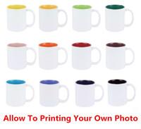 white ceramic mug - 2015 Eco Friendy Allow Printing Your Own Design Coffee Ceramics Cup Wedding Decoration Birthday Suprise Gift DIY Love Mug Cups