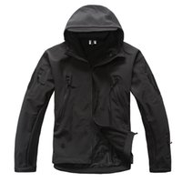 Men army fleece jacket - Good Quality TAD GEAR SPECTRE Soft SHELL Jacket Outdoor Military Tactical Waterproof Windproof Tech Jackets color XS XL