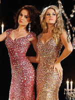 cheap formal dresses for women - 2015 Sexy Cheap Pageant Dresses For Women Sweetheart Sleeveless Mermaid Sweep Train Sparkling Sequins Crystal Beads Formal Evening Gowns