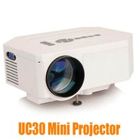 Wholesale HOT UC30 projector Mini Home Projector Led HDMI Home Theater Projector Support HDMI VGA AV USB P Digital projector white