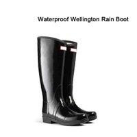 best waterproof boots women - Best New Rain boots Ms Glossy Rain Boots Waterproof Women Wellies Boots Woman Rain Snow Boots High Boot Rainboots