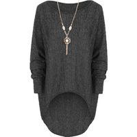 Wholesale Spring New Arrival Fashion Women Blouses Loose Stretch Dip Hem Batwing Long Sleeve Tops Shirt Blouse Plus Size Blusas