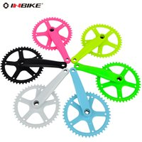 Cheap Bicycle Crank & Chainwheel seconds kill sky white green yellow black tooth plate free shipping inbike 44t crankset bicycle