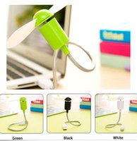 Wholesale 2015 New cute Portable Blades Fan Mini USB Desk Laptop PC Cooler Office Students Cooling pieces