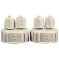 Wholesale Hot Sale DIY CO2 Generator Part Bottle Caps For Aquarium Hobbyists Aquarium Equipment Plastic White For Live Plants