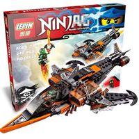 Wholesale new LEPIN phantom Ninja Sky Shark Building Blocks Minifigures Lloyd Flintlocke Compatible With Legoe