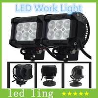 Wholesale nch W Cree LED Work Light Bar Lamp Motorcycle Tractor Boat Off Road W x6 Truck SUV ATV Spot Flood v v