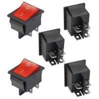 Wholesale 5 x Red Illuminated Light On Off DPST Boat Rocker Switch A V A V AC IN STOCK order lt no track