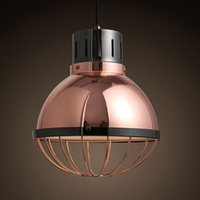 antique copper light fixtures - Modern retro nostalgia antique copper pendant lights American country iron bar Coffee hall ceiling lamp fixtures order lt no t