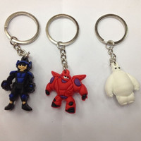 Wholesale 2015 Big Hero Key Chains baymax Figure Toys Cartoon Movie Key Ring Pendants cm for Phone accessories cheapest price