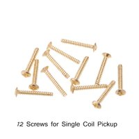 Wholesale Gold Screws Single Coil Pickup Screws mm for Electric Guitar set Guitar Parts Accessories order lt no track