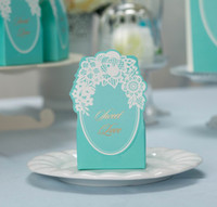 Wholesale Wedding Candy Gifts Favors Boxes Chic quot Special Day quot With Flower Cut out