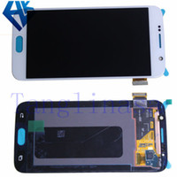 Wholesale For Samsung GALAXY S6 G9200 G920 G920F G920A G920T LCD Screen with Touch Screen Digitizer Assembly White Black