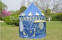 Wholesale CHILDREN S BLUE POP UP PRINCE CASTLE GARDEN INDOOR OUTDOOR PLAYHOUSE PLAY TENT COLOR BLUE