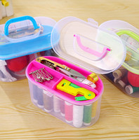 Wholesale household needle and thread sewing tools kit Practical home sewing box Versatile portable finishing Sewing bag