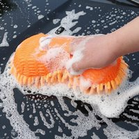 Wholesale New Arrival Ultrafine Fiber Chenille Anthozoan Car Wash Gloves Car Washer Supplies Multi functional Magic Car Brush