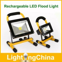 Wholesale New Arrival Rechargeable LED Flood Lights W W W W Outdoor LED Lighting IP65 Waterproof Angle Rotation Hours Working Battery