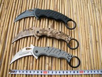 Cheap 3 Styles Fox karambit knife,Camouflage Plain Edge Folder knife,440C Blade Folding knife,EDC Pocket knife