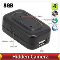 Cheap 8GB Travel USB Charger Camera 1280*960 Spy Hidden Camera Mini DV DVR Recorder With Motion Detection Free Shipping