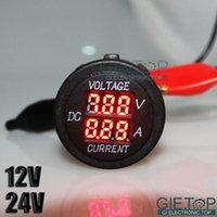 Wholesale DC V V Car Boat Motorcycle Red LED Digital Display Current Voltage Gauge Dashboard Black Measuring Range V V