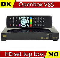 Wholesale 50pcs A Openbox V8S Digital Satellite Receiver Support WEBTV Biss Key x USB Slot USB Wifi G Youtube Youporn CCCAMD NEWCAMD