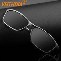 PC alloy bike frames - 2015 New Brand Aluminum Pilot Men Polarized Sunglasses Design Driving Sports Bike Glasses Mirror Goggles High Quality V6806