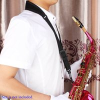 Wholesale Adjustable Saxophone Sax Neck Strap Cotton and Nylon Strap Padded with Hook Clasp Light weight and Compact
