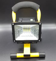 battery wall lamps - 2015 New W W804 IP65 LED Floodlights AC110 V Rechargeable Outdoor Lawn Lamp Powered By Battery