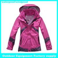 Wholesale Hot sale Female Outdoor Double Layer in1 Waterproof Climbing Skiing Jackets Warm Waterproof Winderproof Coat ski jacket women