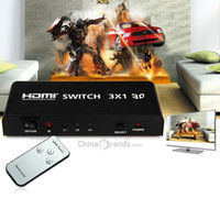 Wholesale HDSW3 Inputs Out x1 HDMI Splitter Switch Support P D with Audio Interface for PS3 XBOX X360 Computer TV Box