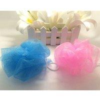 Wholesale 2016 men and women environmental color nylon bath ball bath brush bath flower bath necessary toiletries
