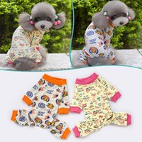 dog pajamas - 2015 Pet Dog Pajamas Cute Cotton Soft Warm Jumpsuit Puppy Nightwear Clothing For Dogs Ropa De Perros China Clothes