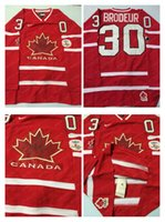 Cheap Mens #30 Brodeur Red 2010 Canada Team Vancouver Winter Olympic Hockey Jerseys Ice International Sports Stitched Premier Authentic Sports