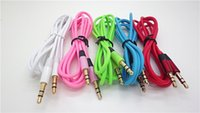 Wholesale Colorful mm AUX Audio Cables Male To Male Stereo Car Extension Audio Cable for MP3 for phone
