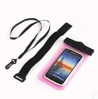Wholesale 100 Waterproof Bag Iphone Samsung galaxy s7 mobile phones water proof dry plus cell phone neck pouch bags with Lanyard arm band