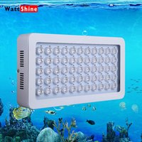 aquarium coral - 2015 New Arrival W led aquarium light W Leds lamp Coral Reef Grow Light High Power Fish Tank LED Aquarium Light