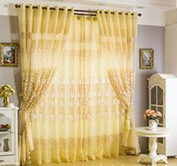 Wholesale 2015 Freeshipping Included Curtains Top Fasion New Blinds Home Window Decoration Burnt out Curtain Tulle m for Bedroom for