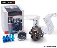 Wholesale TANSKY High Quality TOMEI Adjustable Fuel Pressure Regulator FPR Type L UNIVERSAL JDM Turbo With original Black gauge TK TOMEI BBK