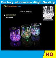Wholesale HOT Bar special induction luminous pineapple cup Yang small glass colorful color glass cup creative cup