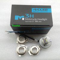 angle conversion - 12 V W lm LED Lamp Beam Angle Motorcycle Bike Headlight Conversion Kit Hi Lo H4 H6 K K COB Chips