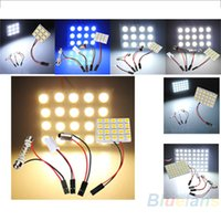 Wholesale 9 LED SMD Car Interior Reading Doom Light Panel T10 Festoon BA9S Adapter Replacement Parts GTC