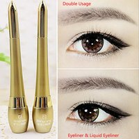 Wholesale High Quality Dual use Waterproof Eyeliner Liquid EyeLiner Pencil MakeUp Cosmetics Golden Hotsell Popular New Retail