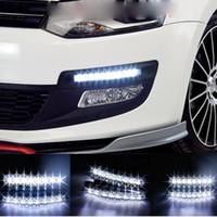 Wholesale 2Pcs Pair Universal Car Light Super White LED Daytime Running Light Auto Head Lamp DRL New