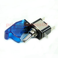 Wholesale 1PC V Car Racing On Off Aircraft Type Blue LED Toggle Switch Control Blue Cover