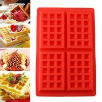 Wholesale 10pcs New Hot Useful Cavity Mini Waffles Pan Silicone Mold Baking Mould Essential Cooking Accessories DIY